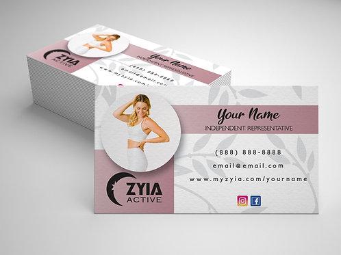 Zyia Business Card - Mauve