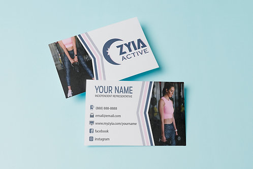 Zyia Business Card - Blue Leopard
