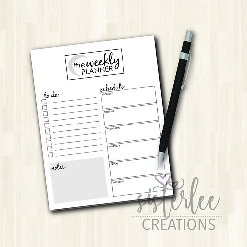 Zyia Active Weekly Planner Notepad