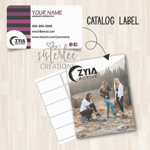 Zyia Active Catalog Label #37