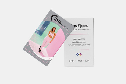 Zyia Business Card - Pink+Grey