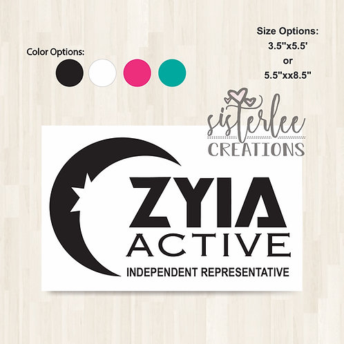 Zyia Active Independent Representative Vinyl Decal