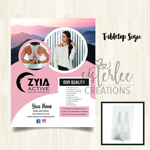 Zyia Tabletop Sign
