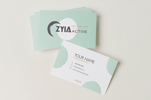 Zyia Business Card - Dots