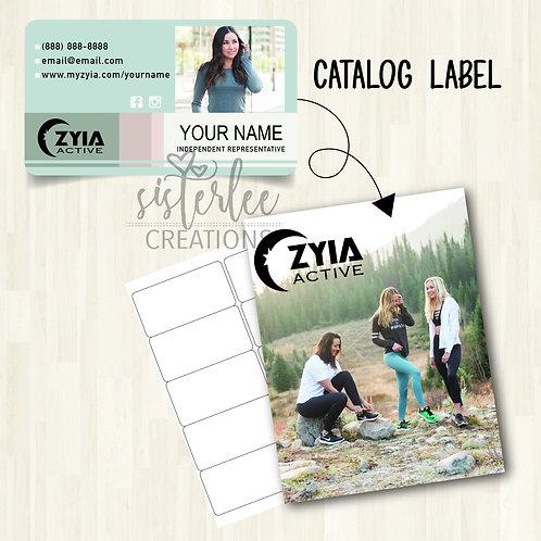 Zyia Active Catalog Label #12