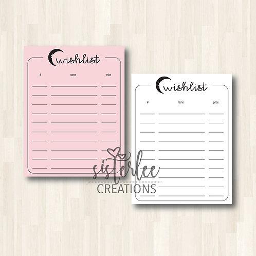 Wishlist Notepad