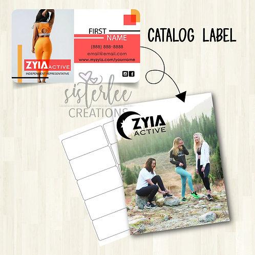 Zyia Active Catalog Label #25