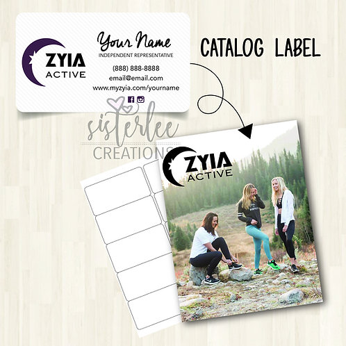 Zyia Active Catalog Label #11