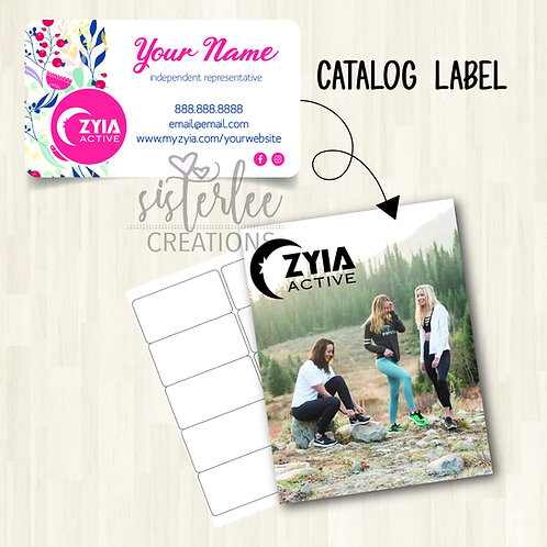 Zyia Active Catalog Label #32