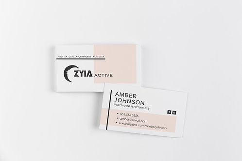 Zyia Business Card - Blush Pink