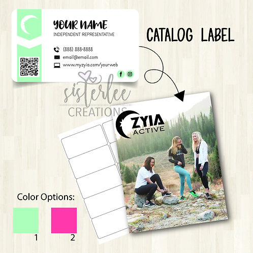 Zyia Active Catalog Label #24
