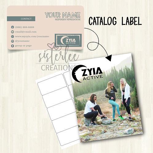 Zyia Active Catalog Label #7