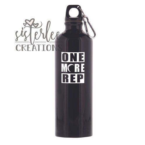 Zyia Active Waterbottle - Black w/ One More Rep