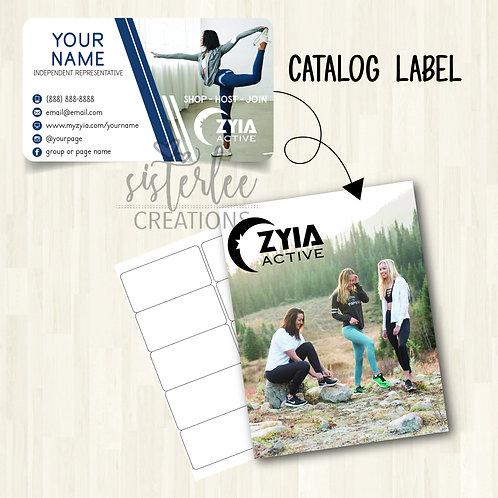 Zyia Active Catalog Label #23