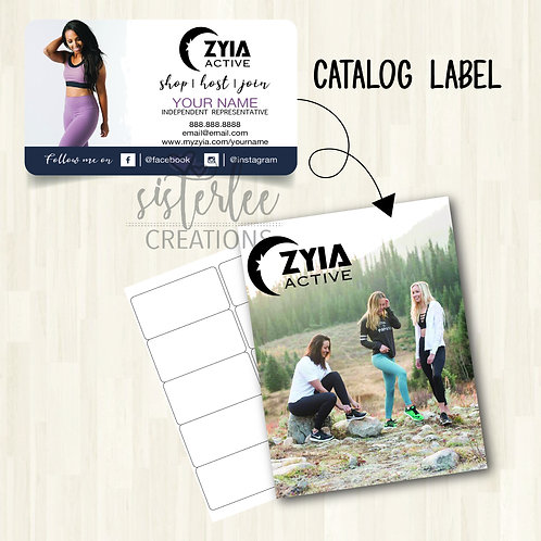 Zyia Active Catalog Label #27