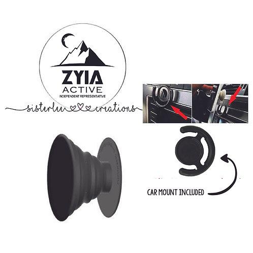 Zyia Active Phone Grip + Mount Set