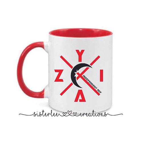 Zyia Active Red + Black Mug