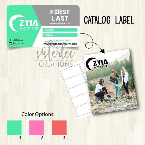 Zyia Active Catalog Label #3