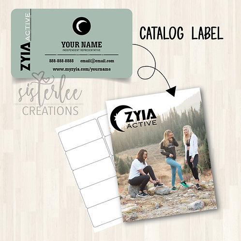 Zyia Active Catalog Label #36