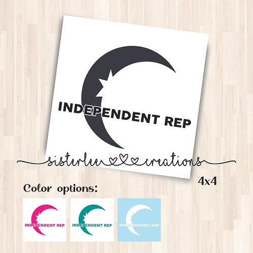 Zyia Active Independent Rep w/ Moon Vinyl Decal - (4x4)