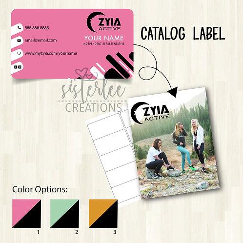 Zyia Active Catalog Label #28