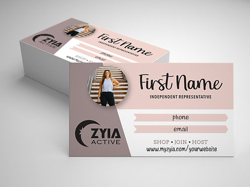 Zyia Business Card - Dusty Rose
