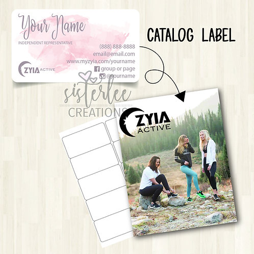 Zyia Active Catalog Label #8
