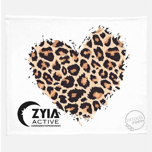 Zyia Active Leopard Heart Minky Blanket
