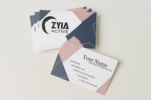 Zyia Business Card - Navy + Blush