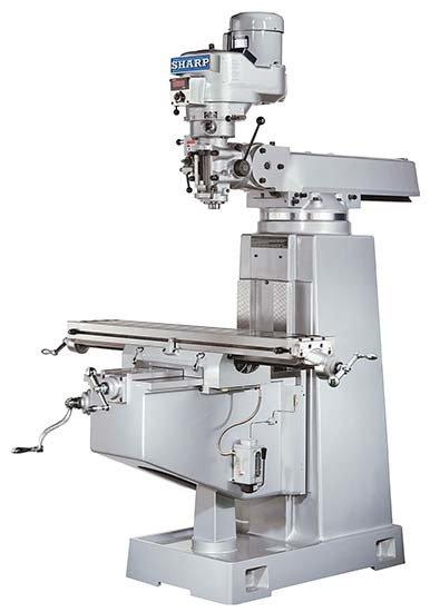 "Sharp Industries 10"" x 50"" Table TMV-DVS Vertical Knee Mill"