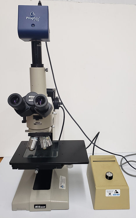 Nikon Optiphot Reflected Light Microscope w/ Jenoptik CT5 Camera