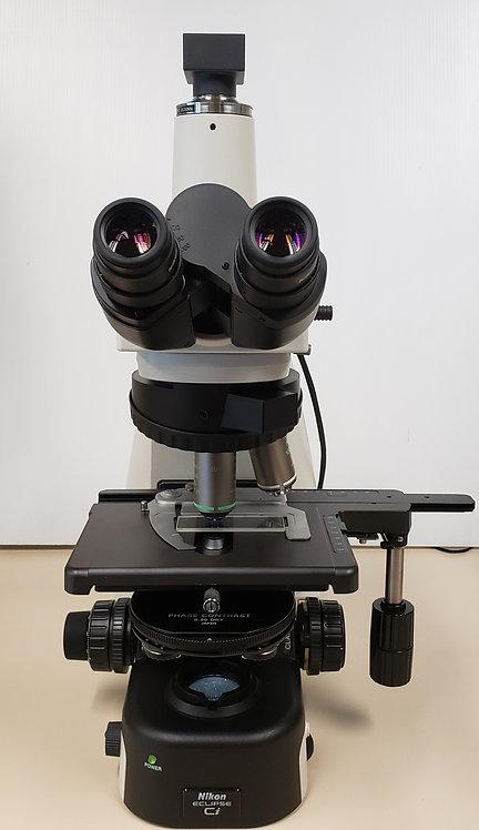 Nikon Eclipse Ci-L Phase Contrast Microscope w/ 20x, 100x Objectives, Camera
