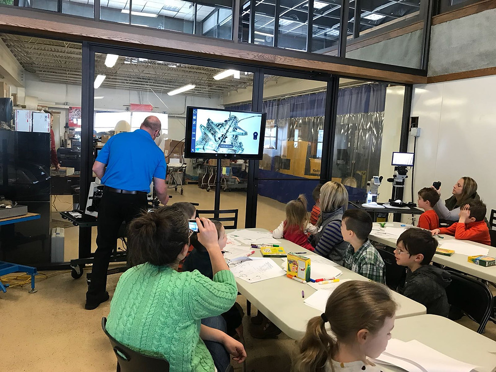 Everyone was excited to see insects that they had collected and view them at high magnification