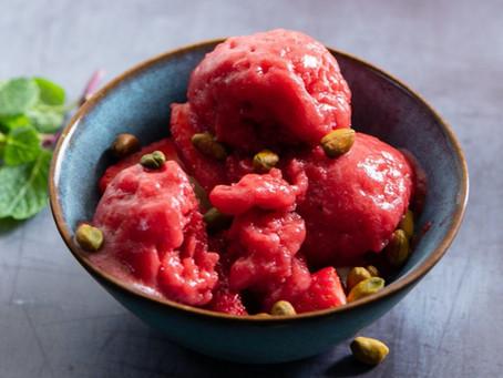 Gelado cremoso de fruta