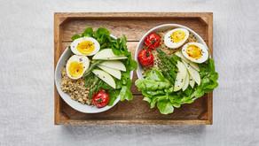 Salada fresca de quinoa