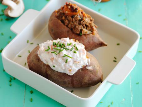 Batatas-doce recheadas
