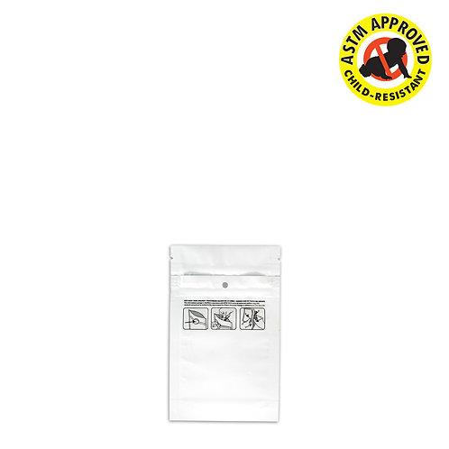 DymaPak Child Resistant White Mylar Bag 1 Gram - 1000 Count