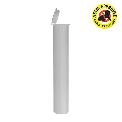 Click or scroll to zoom Child Resistant Vape Cartridge Tube White 80MM – 1000 C
