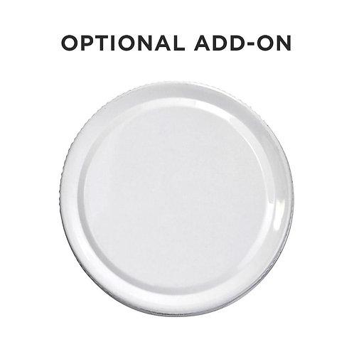 2oz / 4oz Add-On Blank Tin White CAPS ONLY - 120 Count