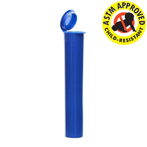 Opaque Blue Child Resistant Joint Tube 95mm - 1,000 Count