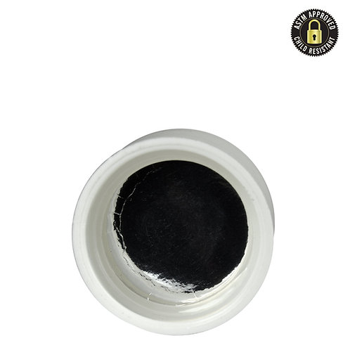 White Smooth Sided No Text Caps for CR 5ml Jar - 504 Count