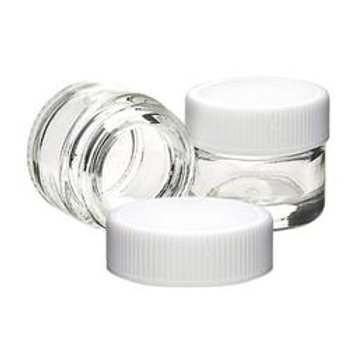 Glass Concentrate Container - 5ML - White Cap - 250 Count