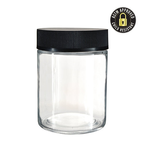 4oz Child Resistant Glass Jar - 100 Count