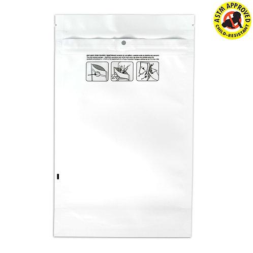 DymaPak Child Resistant Vista White Mylar Bag 1 Ounce - 1000 Count