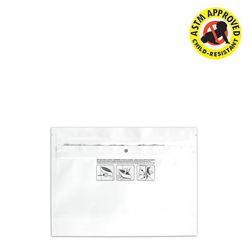 """DymaPak White Child Resistant Exit Bag 8"""" X 6"""" - 250 Count"""