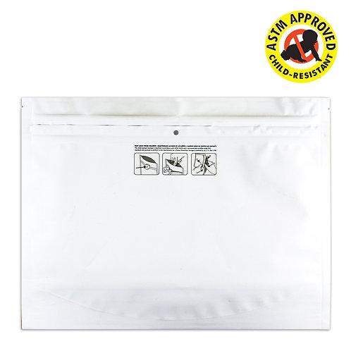 """DymaPak White Child Resistant Exit Bag 12"""" x 9"""" - 250 Count"""