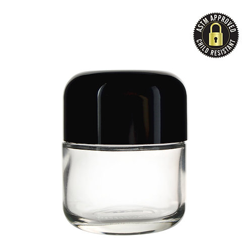2oz Arched Child Resistant Glass Jar - 200 Count