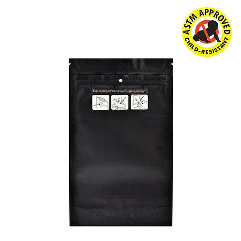 DymaPak Child Resistant Black Mylar Bag 1 Ounce - 1000 Count