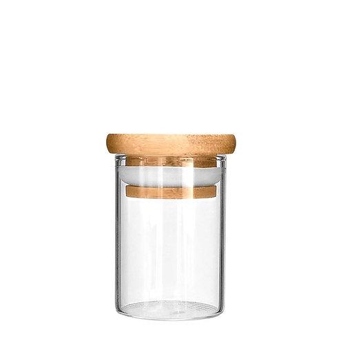 Wooden Lid Glass Jar 2oz - 200 Count