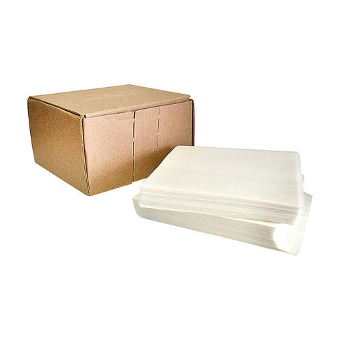 """Click or scroll to zoom Silicone Coated Parchment Paper - White - 4"""" x 4"""" - 1,0"""